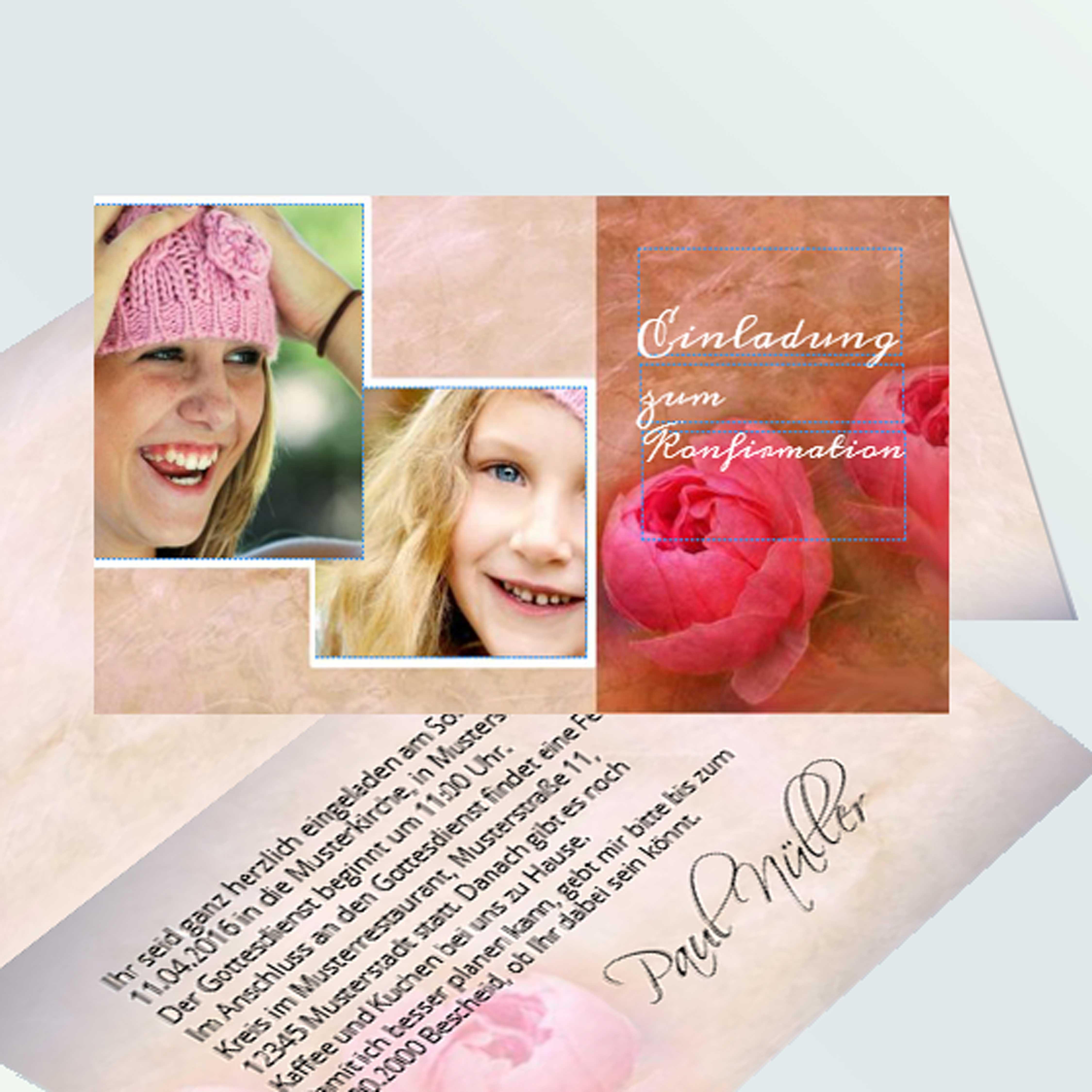 Einladungskarten Zur Konfirmation Selbst Gestalten: Einladungen Konfirmation Gestalten
